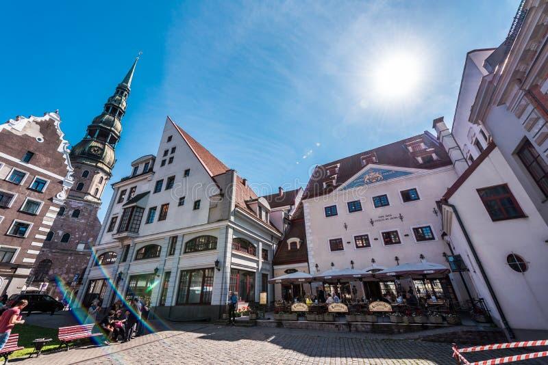 Città Hall Square a Riga fotografia stock libera da diritti