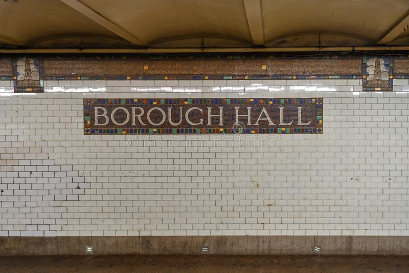 Città Hall Subway Station - New York fotografia stock libera da diritti