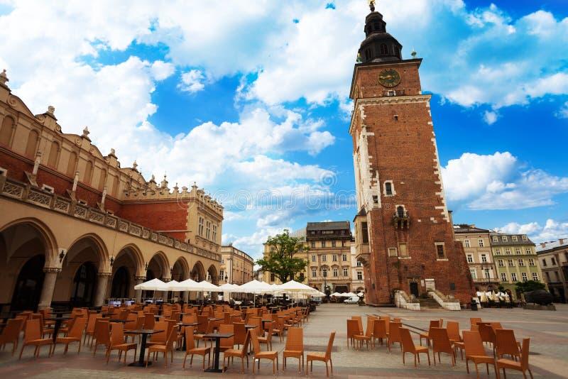 Città Hall Tower (ratuszowa w Krakowie di Wieza) immagine stock