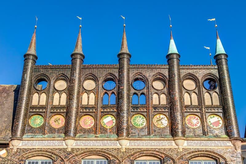 Città Hanseatic di Lubeck immagine stock