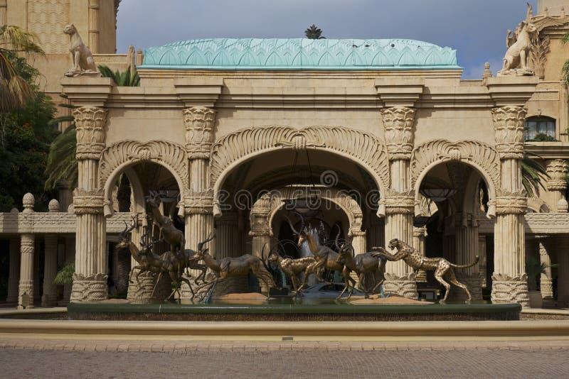 Città/hotel persi del Sun City, Sudafrica immagini stock libere da diritti