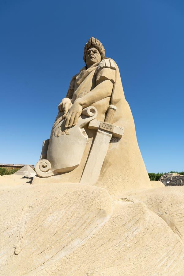 Città Hurghada della sabbia fotografia stock libera da diritti