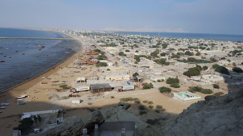 Città il Belucistan di Gwadar fotografia stock libera da diritti