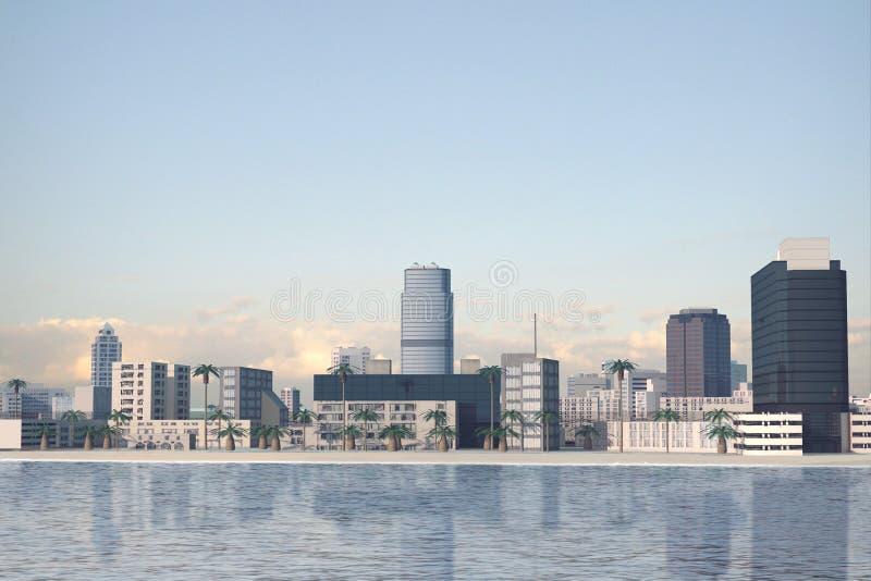 Città immaginaria 78 fotografia stock libera da diritti