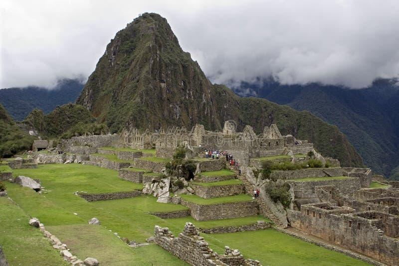 Città inca antica di Machu Picchu, Perù fotografia stock libera da diritti