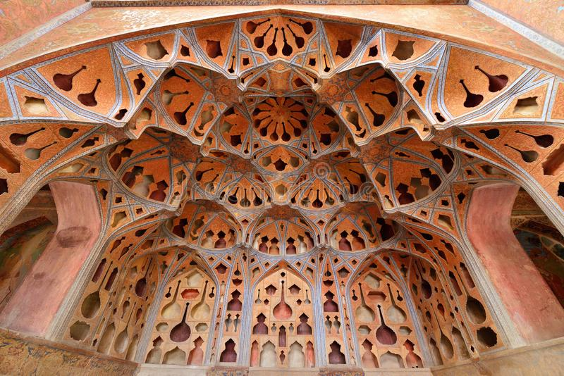 Città islamica antica di Ispahan nell'Iran fotografie stock