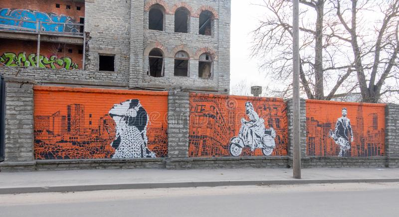 Città Kopli distric dell'Estonia Tallin fotografie stock libere da diritti