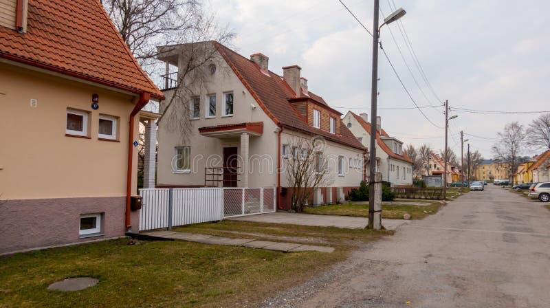 Città Kopli distric dell'Estonia Tallin fotografia stock libera da diritti
