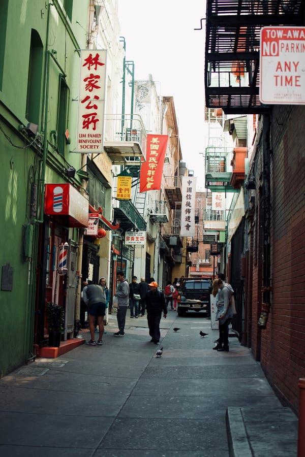 Città lunatica della Cina a San Francisco, California immagine stock