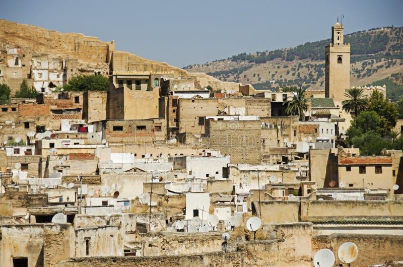 Città marocchina di Fes fotografia stock libera da diritti
