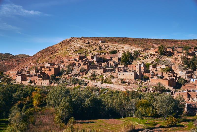 Città marocchina tipica del deserto immagini stock libere da diritti