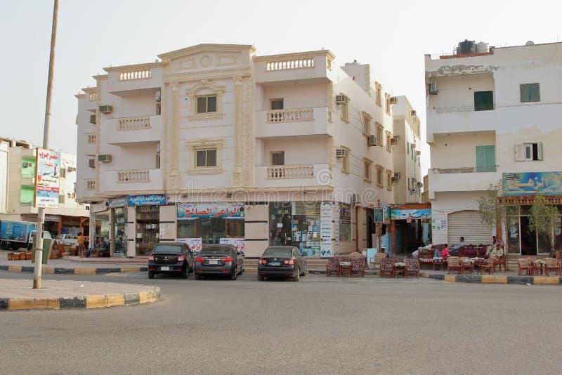 Città in Marsa Alam, Egitto fotografia stock libera da diritti