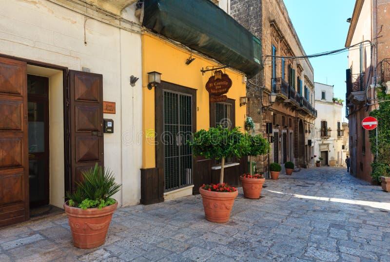 Città medievale di Oria, Puglia, Italia fotografie stock libere da diritti