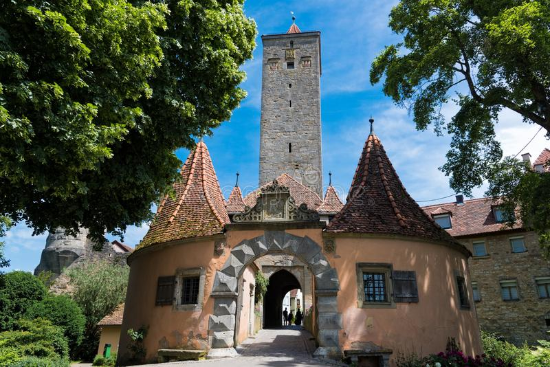 Città medievale in Germania immagini stock libere da diritti