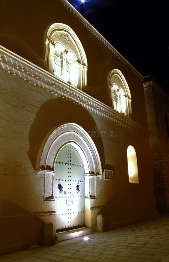 Città medioevale di Mdina entro Night fotografia stock libera da diritti