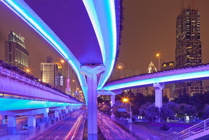 Città mega Schang-Hai fotografia stock