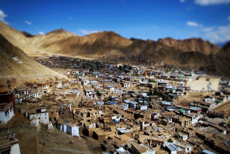 Città miniatura di Leh fotografia stock
