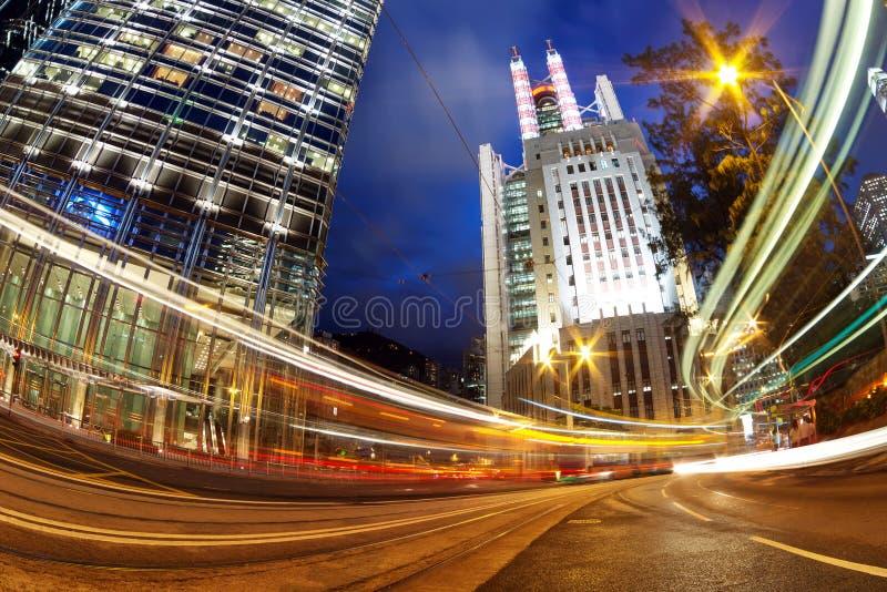 Città moderna alla notte immagine stock libera da diritti