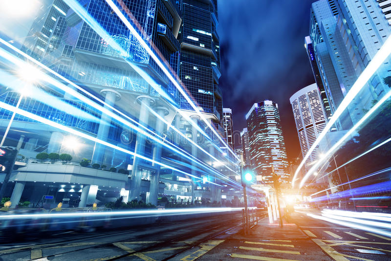 Città moderna alla notte fotografia stock