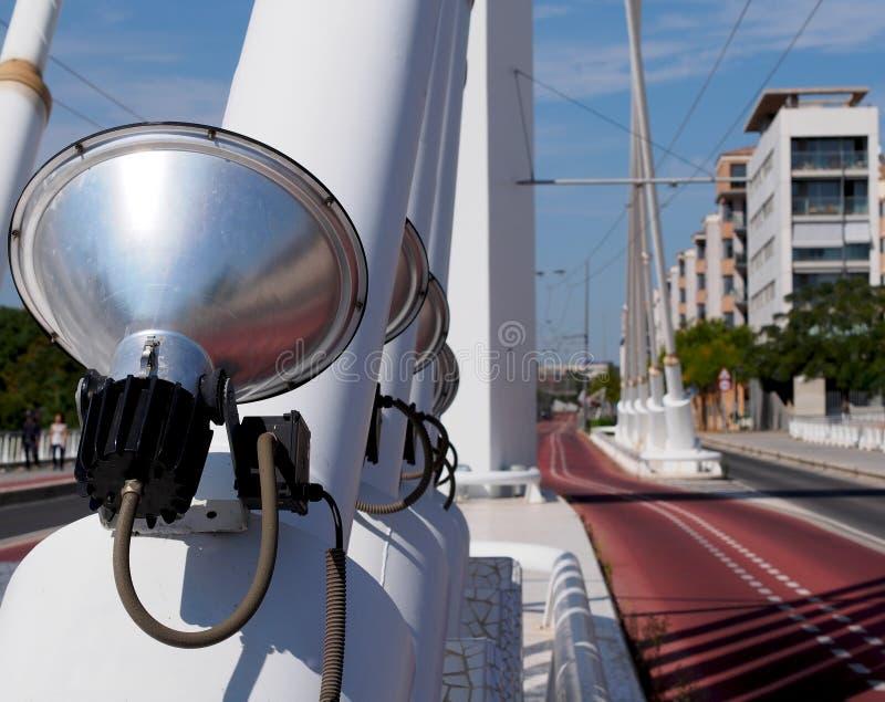 Città moderna - elettricità e iluminazione pubblica fotografia stock