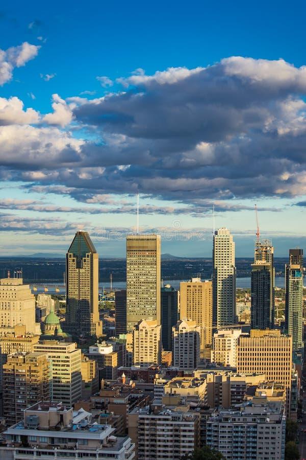 Città Montreal Quebec Canada di giorno soleggiato fotografia stock libera da diritti
