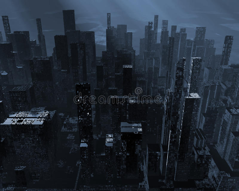 Città morta illustrazione vettoriale