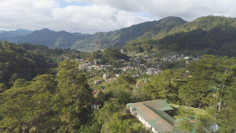 Città nella provincia della montagna Sagada, Filippine immagine stock