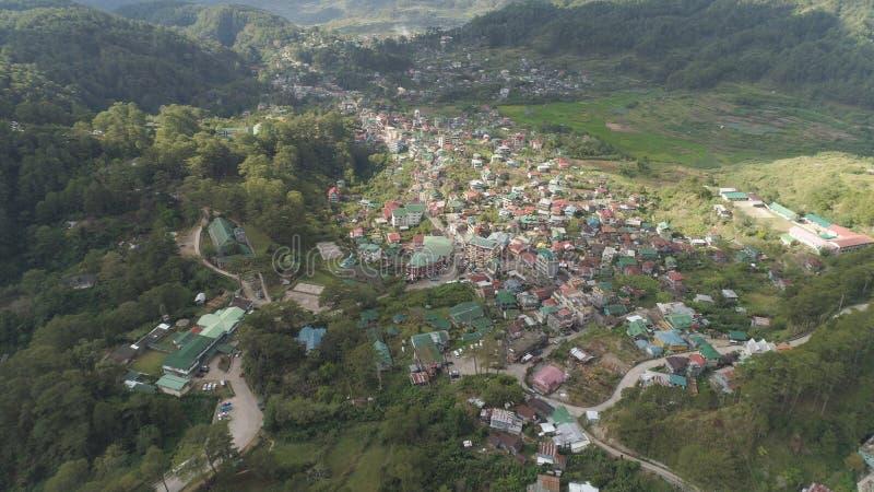 Città nella provincia della montagna Sagada, Filippine immagine stock libera da diritti