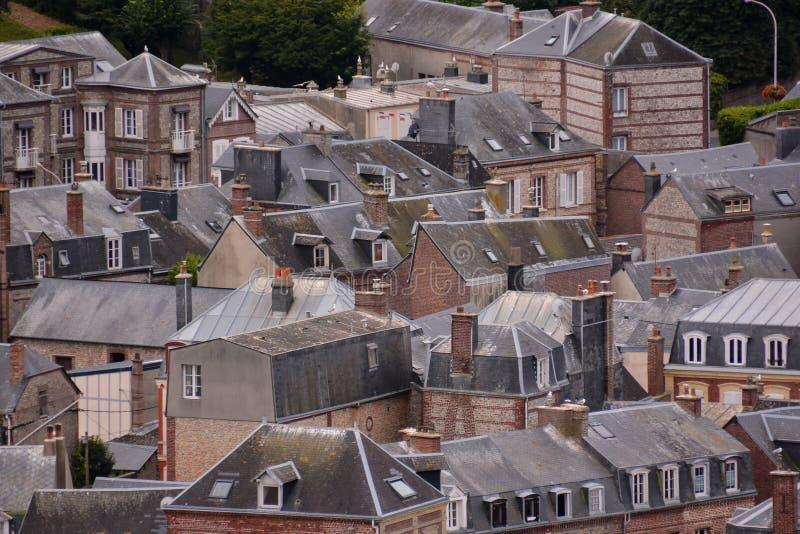 Città Normandia Francia Europa di Etretat del d'Amont di Falaise fotografie stock
