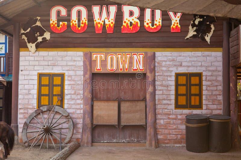 Città occidentale americana di stile fotografie stock libere da diritti