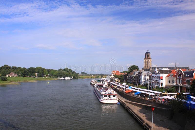 Città olandese Deventer immagine stock libera da diritti