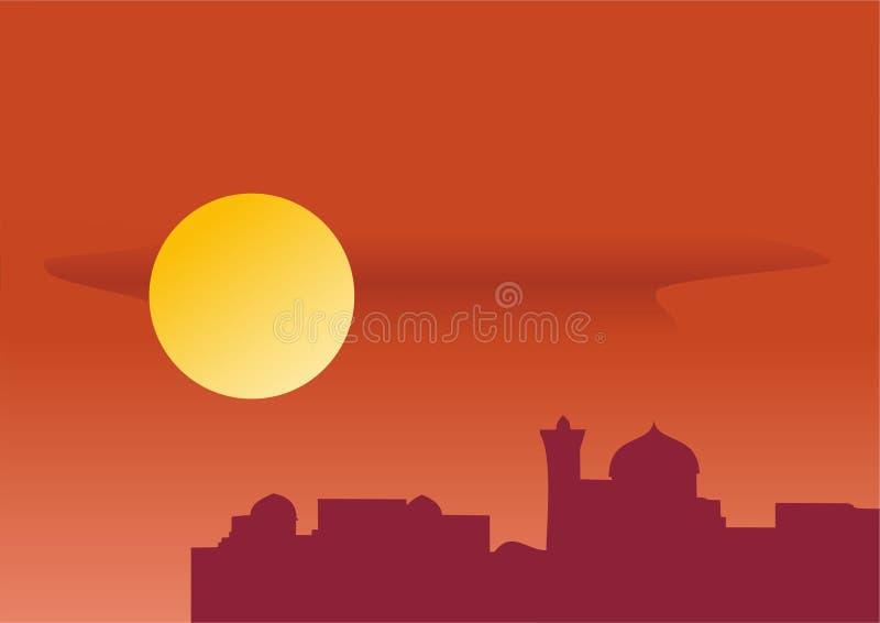 Città orientale illustrazione di stock