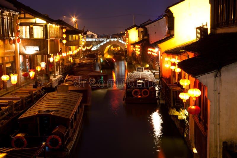 Città orientale di Venezia - Suzhou immagine stock
