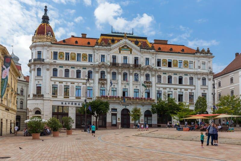 Città Pecs dell'Ungheria Il County Hall fotografia stock libera da diritti