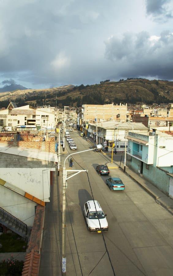 Città peruviana immagine stock