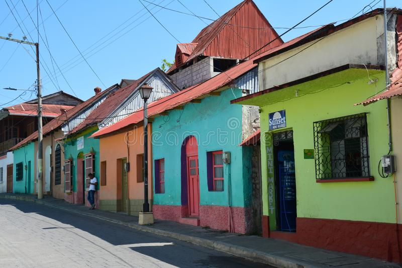 Città pittoresca variopinta del Flores Guatemala fotografie stock