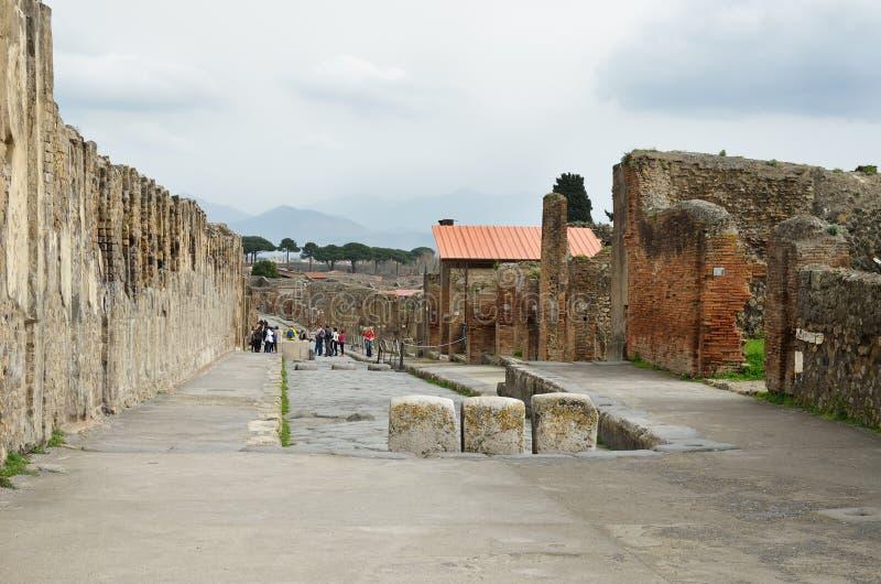 Città ristabilita Pompei immagine stock