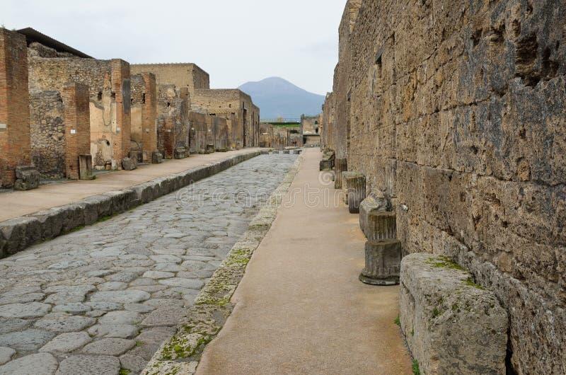 Città ristabilita Pompei immagine stock libera da diritti