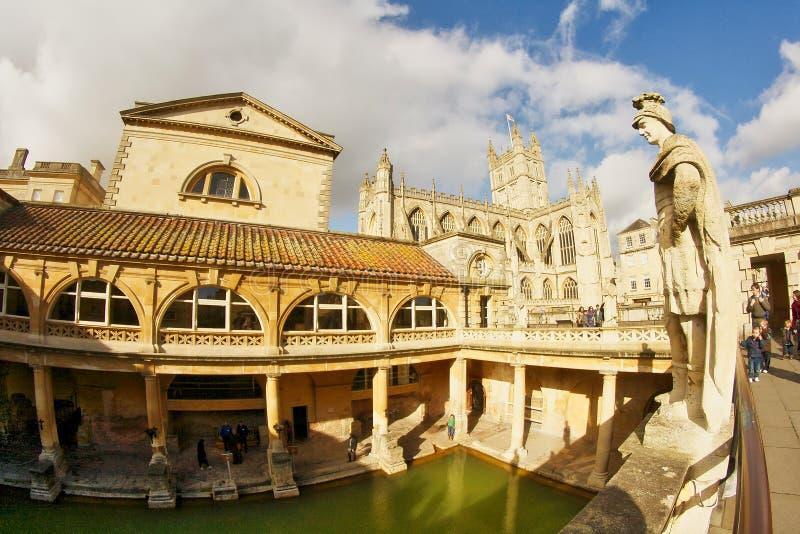 Città romana del bagno nel Regno Unito immagini stock