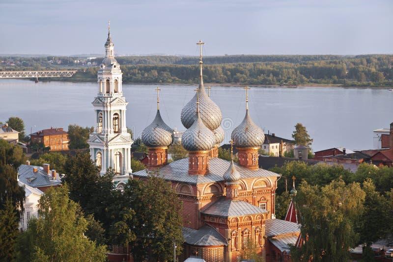 Città russa antica di Kostroma fotografia stock libera da diritti