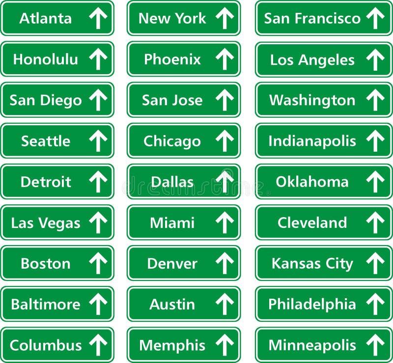 Città S.U.A. illustrazione di stock