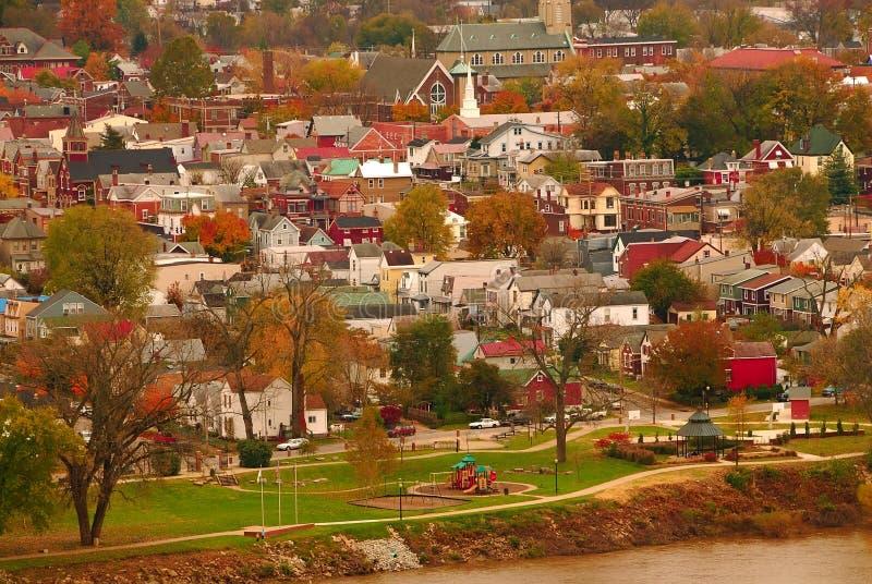 Città S.U.A. del fiume immagini stock libere da diritti