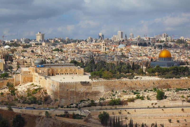 Città Santa di Gerusalemme immagini stock libere da diritti