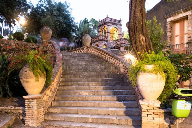 Città Scape di Taormina fotografia stock libera da diritti