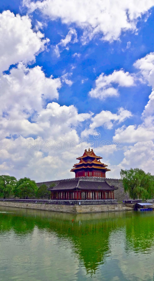 Città severa Pechino fotografie stock libere da diritti