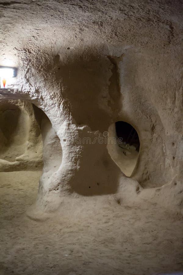 Città sotterranea di Derinkuyu fotografie stock libere da diritti