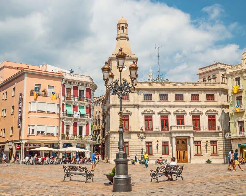 Città spagnola di Reus immagini stock libere da diritti