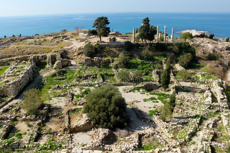 Città storica di Byblos nel Libano immagini stock libere da diritti