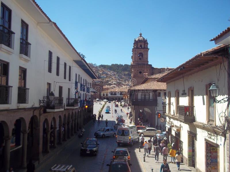Città storica di Cuzco immagine stock