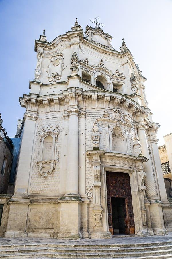 Città storica di Lecce Italia fotografie stock libere da diritti